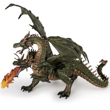 Dragon à deux têtes, figurine PAPO 36019