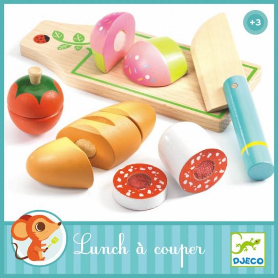 Lunch à couper, jouet en bois DJECO 6529