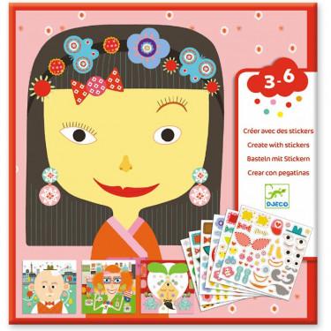 Tous différents - stickers DJECO 8934