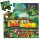 La locomotive, puzzle silhouette 16 pcs DJECO 7267