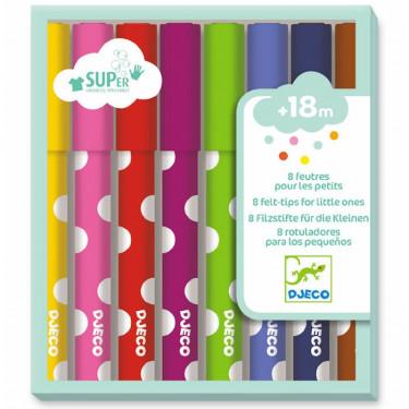 8 feutres pour les petits DJECO 9001