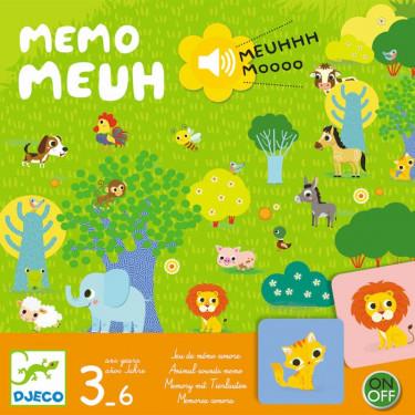 Memo Meuh, jeu de mémory sonore DJECO 8482