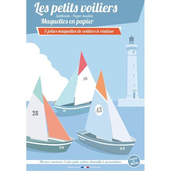 Les petits voiliers, maquettes en papier 'Sophie et Martin'
