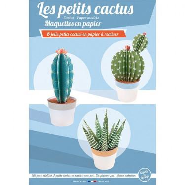 Les petits cactus, maquettes en papier 'Sophie et Martin'