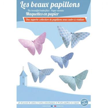 Les beaux papillons, maquettes en papier 'Sophie et Martin'