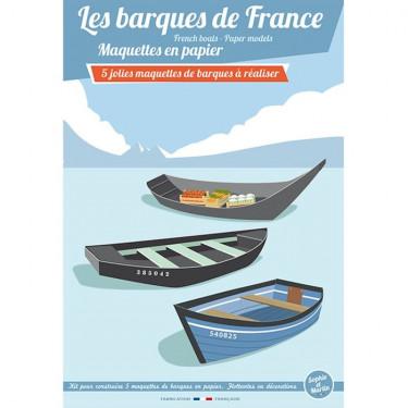 Les barques de France, maquettes en papier 'Sophie et Martin'