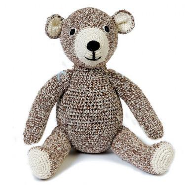 """Ours en peluche """"Teddy"""" chocolat en crochet anne-claire petit"""