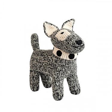 Peluche chien terrier en crochet anne-claire petit