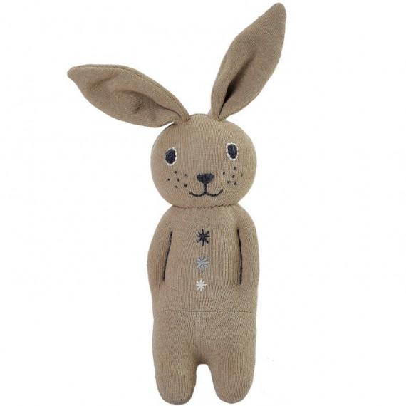 Peluche hochet lapin en tricot anne-claire petit