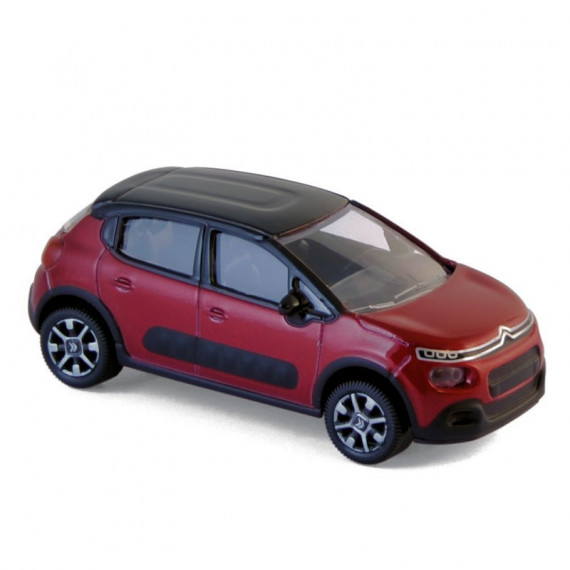Citroën C3 2016 red/black voiture jouet Norev