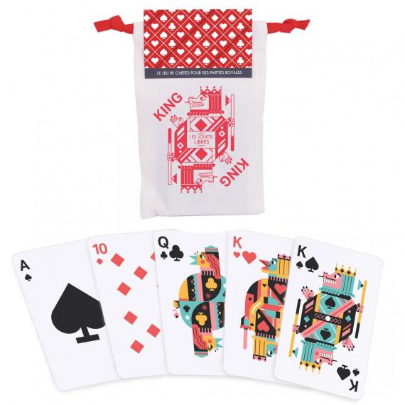 KING, jeu de cartes classique 'Les Jouets Libres'