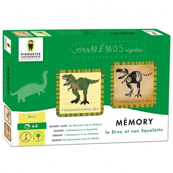 Jeu de mémory 'Le dinosaure et son squelette' Pirouette Cacahouète
