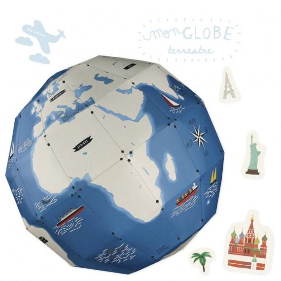 Globe terrestre à assembler Pirouette Cacahouète