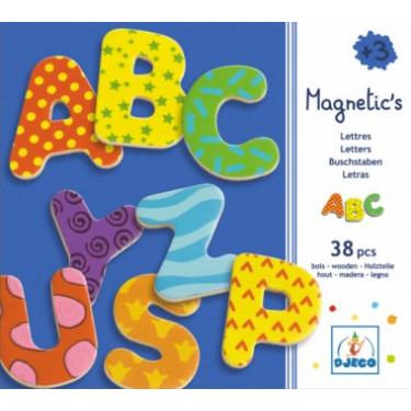 Lettres magnétiques fantaisie en bois DJECO DJO3100