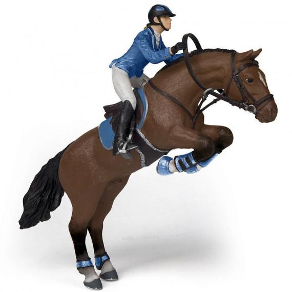 Cheval de saut d'obstacles et sa cavalière PAPO 51560