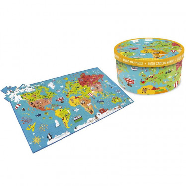Puzzle 150 pcs Carte du monde Scratch