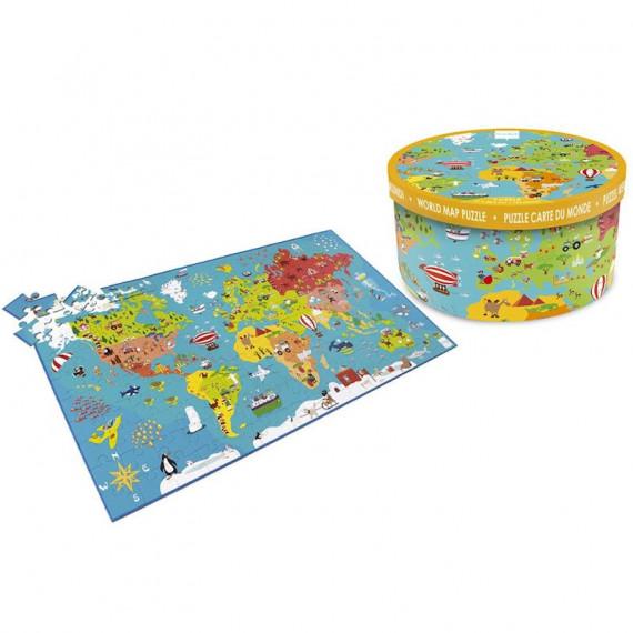 Puzzle 150 pcs Carte du monde Scratch