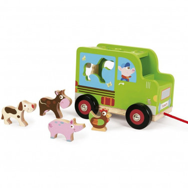 Voiture à formes 'Camion de la ferme' SCRATCH