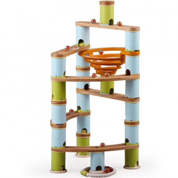Circuit de billes Bamboo Planet, Kit Avancé