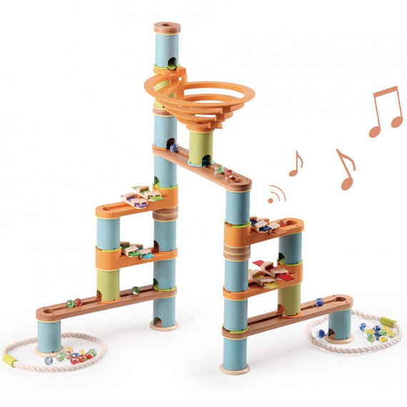Circuit de billes Bamboo Planet, Kit Musical