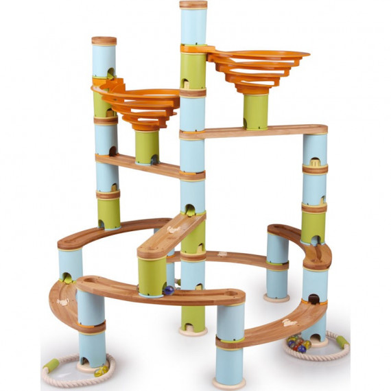 Circuit de billes Bamboo Planet, Kit Jumbo
