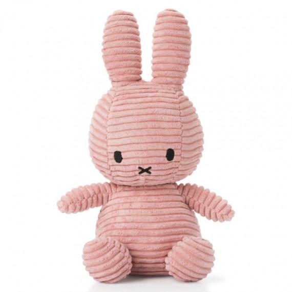 Peluche Miffy en velours côtelé rose 24cm