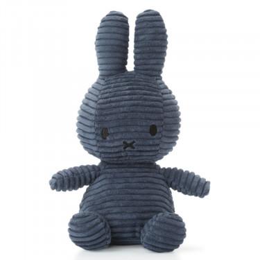 Peluche Miffy en velours côtelé bleu nuit 24cm