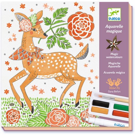 """Coffret Aquarelle magique """"Dandy des bois"""" DJECO 8602"""