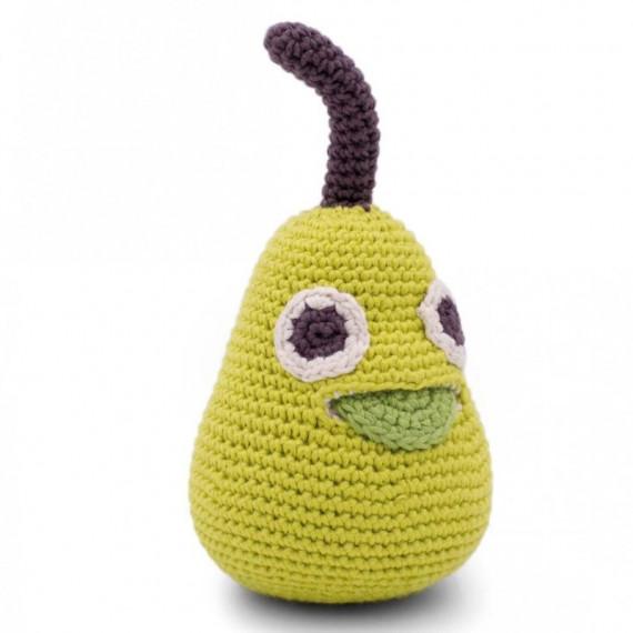 """Hochet poire en crochet """"The veggy toys"""", coton bio"""