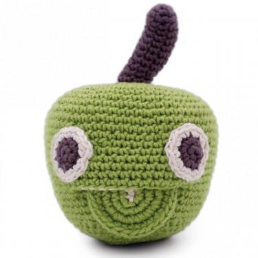 "Hochet pomme en crochet ""The veggy toys"", coton bio"