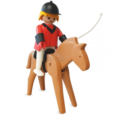 Le cavalier et son cheval Playmobil Collectoys Plastoy