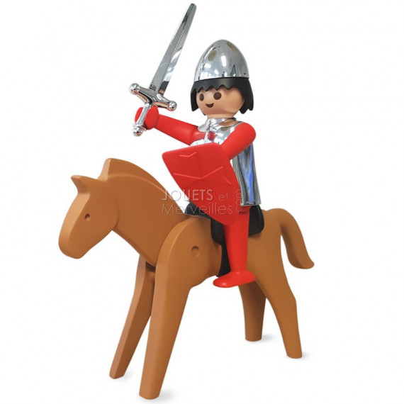 Le chevalier et son cheval Playmobil Collectoys Plastoy
