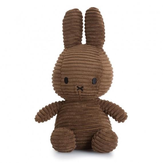 Peluche Miffy en velours côtelé marron 24cm