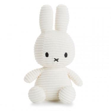 Peluche Miffy en velours côtelé blanc 24cm