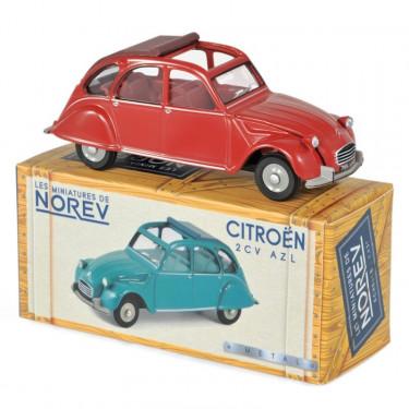 Citroën 2CV AZL 1968 - rouge corsaire NOREV 1-43