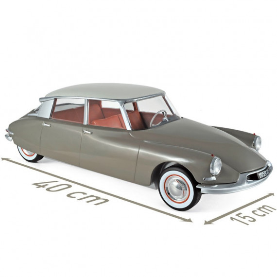 Citroën DS19 1959 marron et blanc Norev 1-12ème