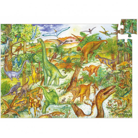 Puzzle observation 'Dinosaures' 100 pcs DJECO 7424