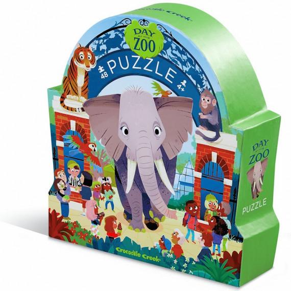 Puzzle Une journée au zoo 48 pcs CROCODILE CREEK