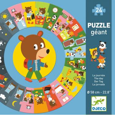 Puzzle géant 'La journée' 24 pcs DJECO 7015