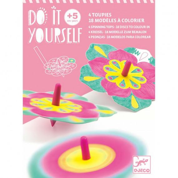 """Toupies à colorier """"Fleurs"""" DIY DJECO 7940"""