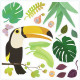 Stickers de fenêtre repositionnables 'Jungle' DJECO 5054