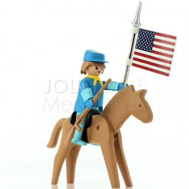 Le cavalier américain et son cheval Playmobil Collectoys Plastoy