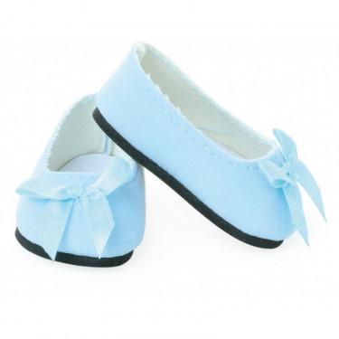 Ballerines bleu ciel pour poupées de 39 à 48 cm Petitcollin