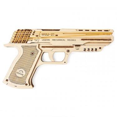 Pistolet Wolf 01 – Puzzle 3D Mécanique – Ugears France
