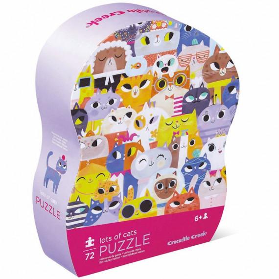 Chats en tout genre, puzzle 72 pcs silhouette CROCODILE CREEK
