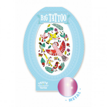 Tatouage enfant Big Tattoo 'Birdy' DJECO 9603