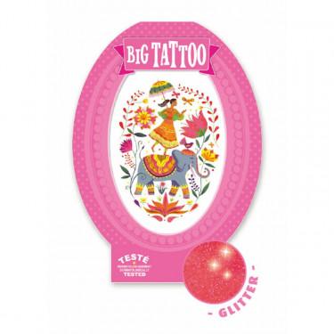 Tatouage enfant Big Tattoo 'Rose India' DJECO 9602