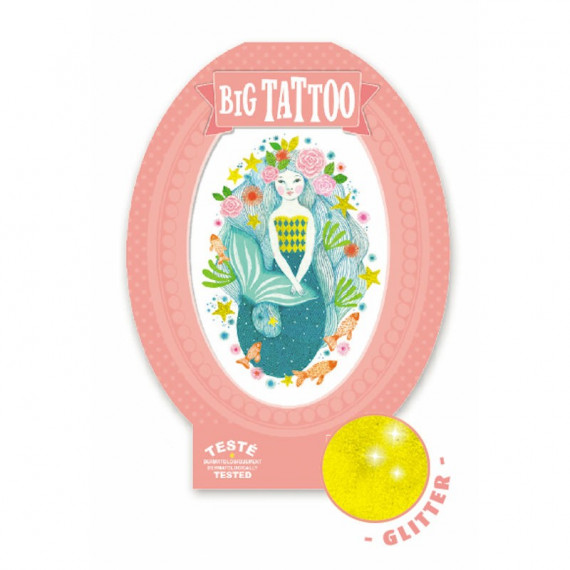 Tatouage enfant Big Tattoo 'Aqua blue' DJECO 9600