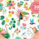 Stickers paillettes 'Paradise' DJECO 9260