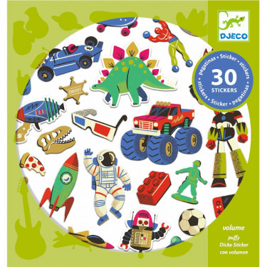 Stickers en volume 'Retro toys' DJECO 9263